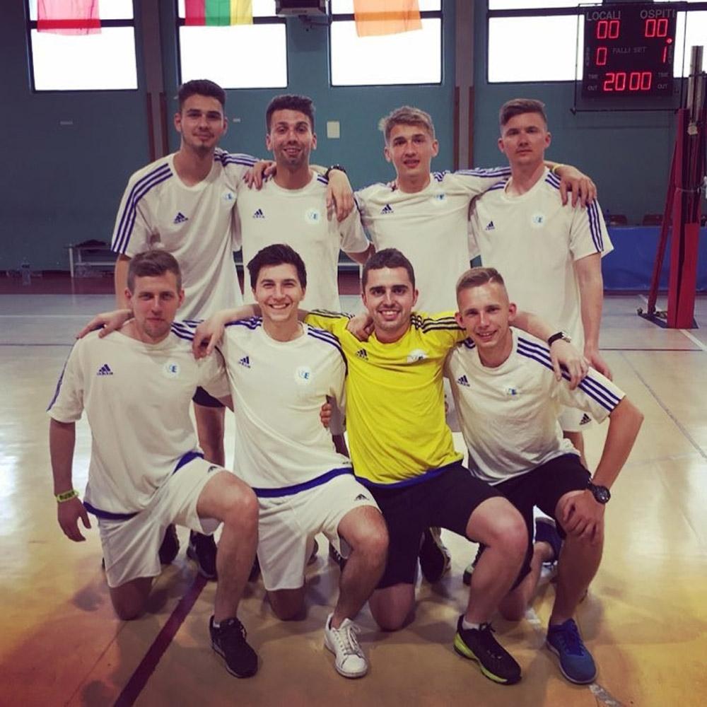 Futsalový reprezentační tým VŠE na mezinárodním turnaji EUROMILÁNO 2018