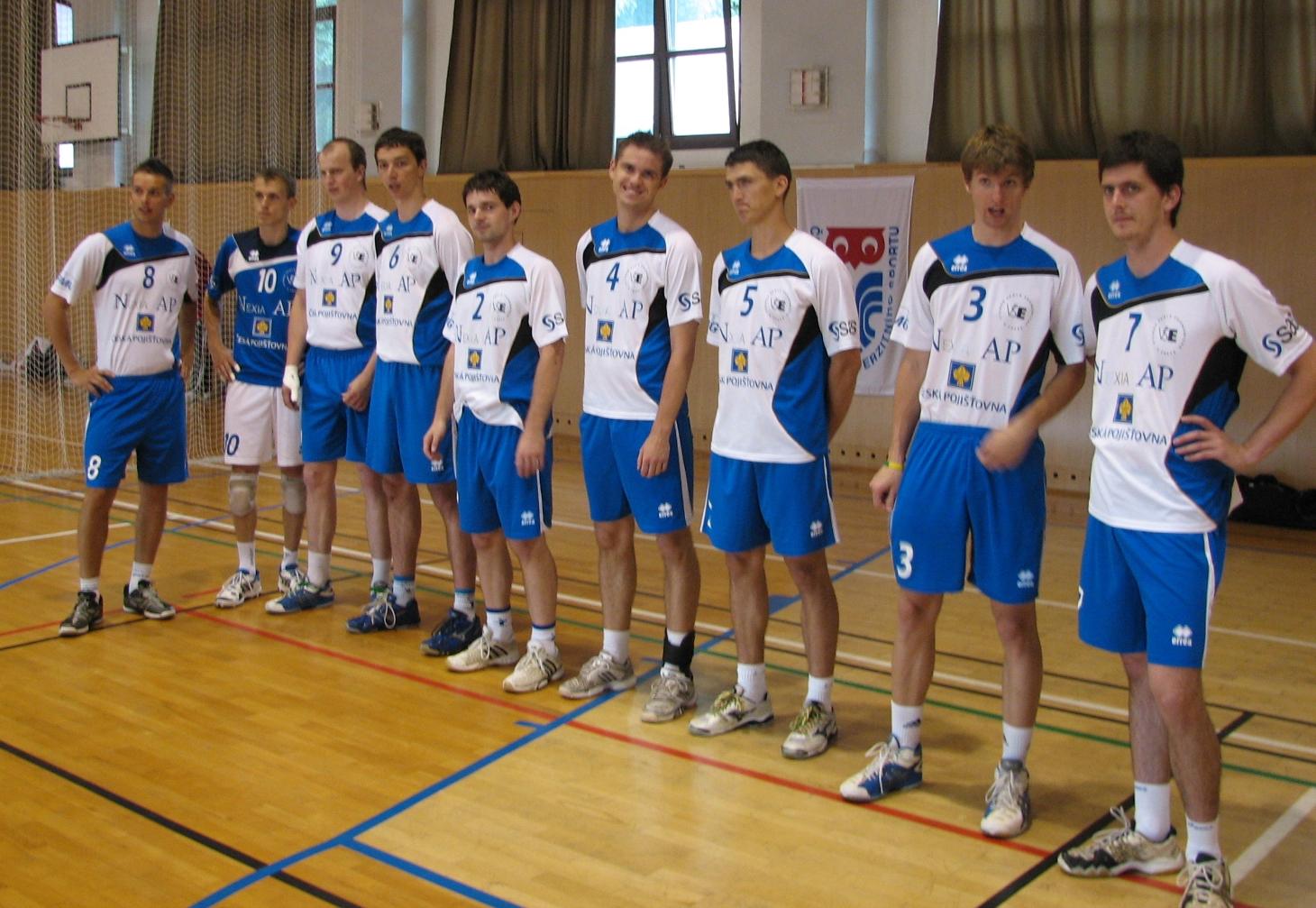 Reprezentační tým studentů volejbalistů na Českých akademických hrách 2012