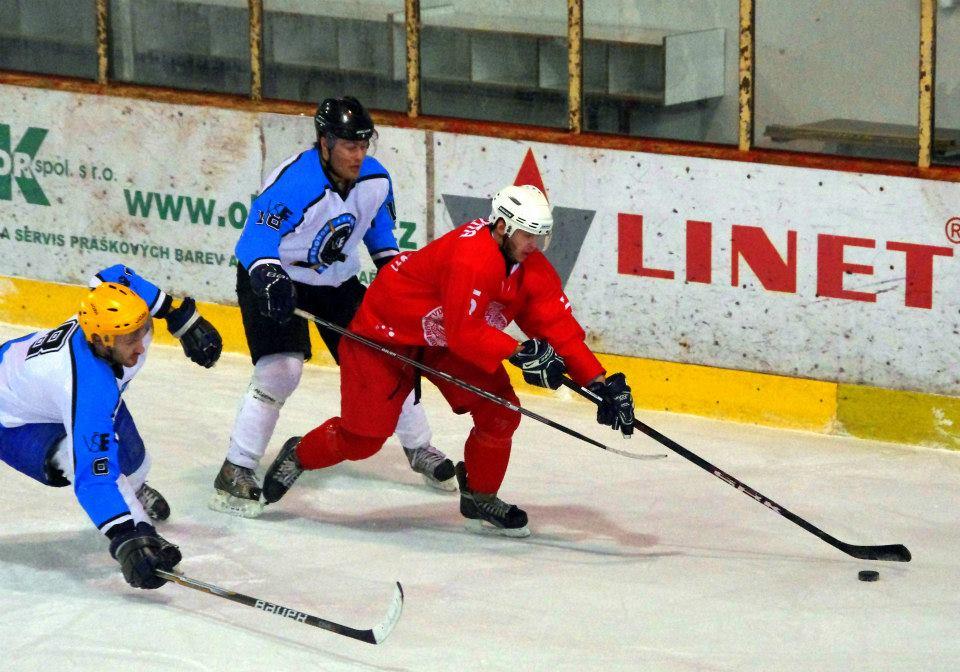 Hokejová reprezentace školy na Akademickém mistrovství ČR v ledním hokeji 2013