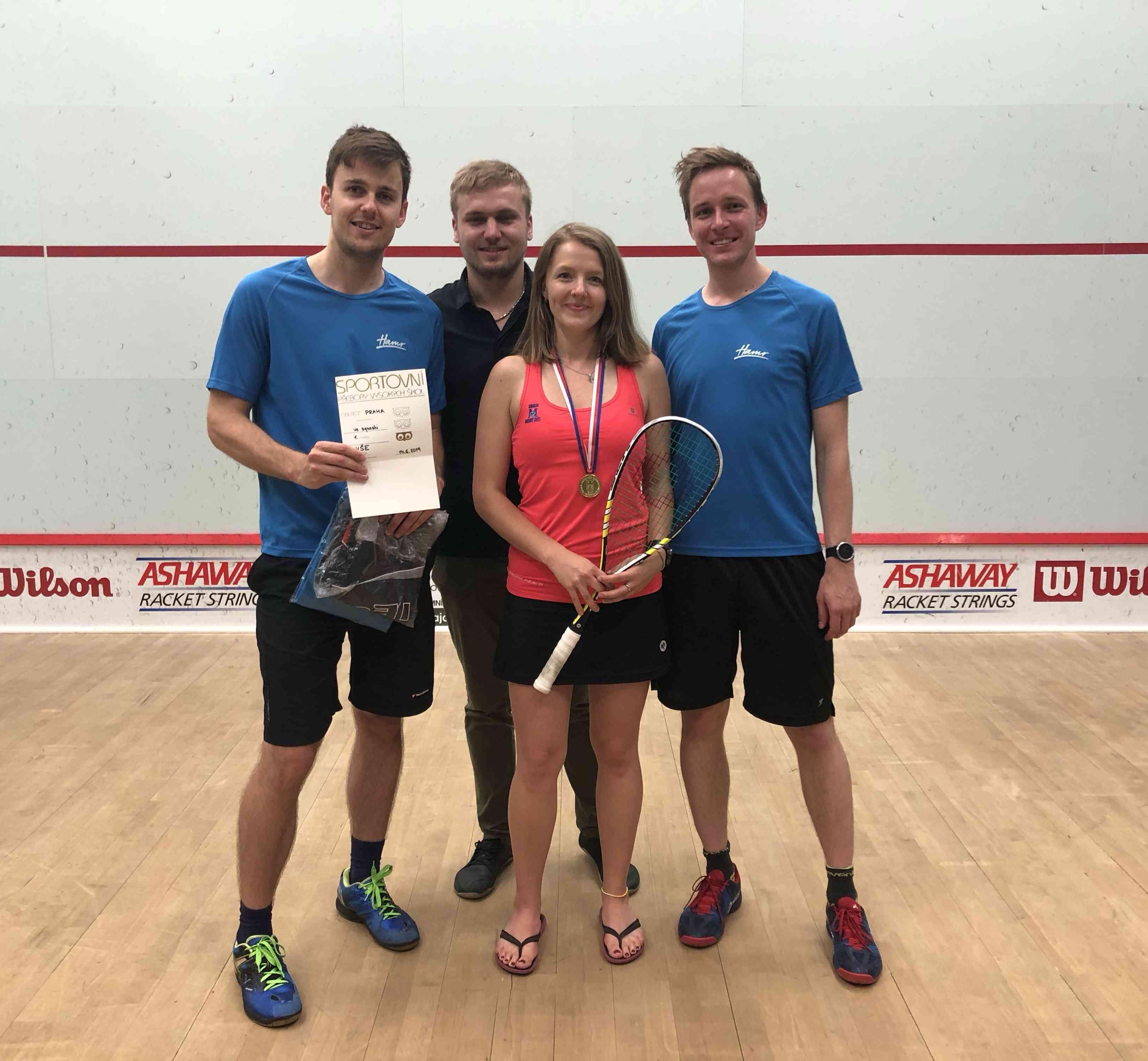 Studenti školy získali tituly Akademických mistrů ČR  ve squashi