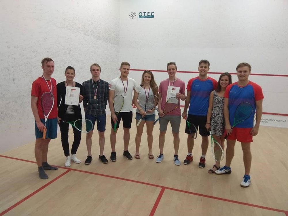 Studenti školy reprezentovali na Akademickém mistrovství ČR ve squashi